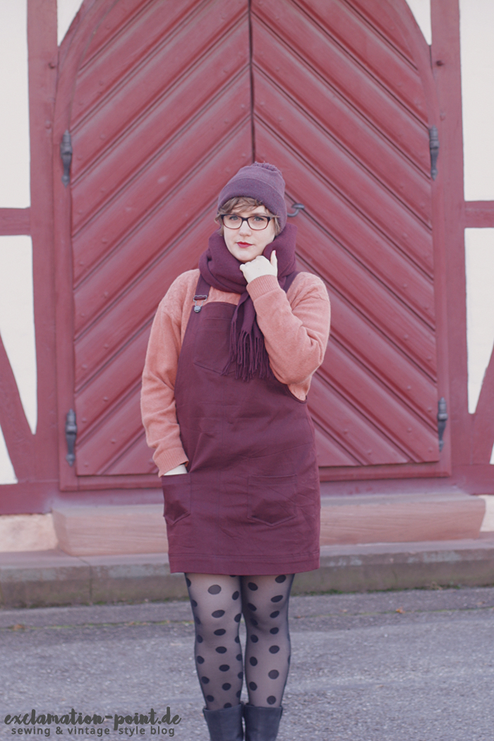 Tilly and the Buttons Cleo dungaree dress review ( and 4 helpful tips for sewing those pockets!)