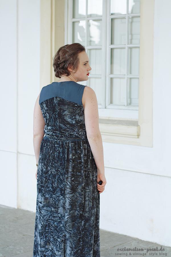Velvet maxi dress La Maison Victor Lola & Blazer Frazer | exclamation-point.de - sewing blog