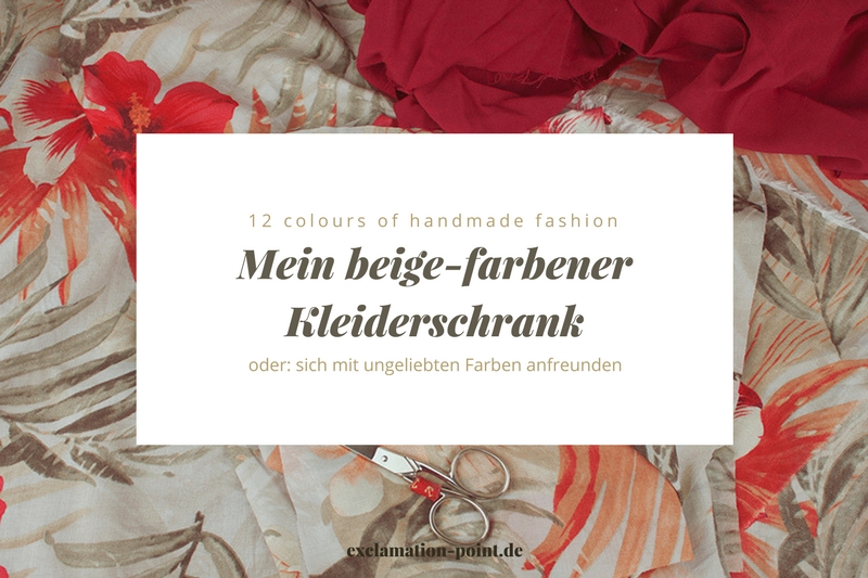 12 colours of handmade fashion: Februar - Beige