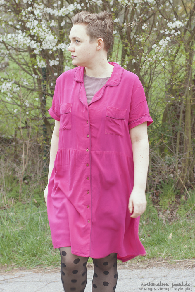 Closet Case Patterns hack: Carolyn Pajamas into dress!
