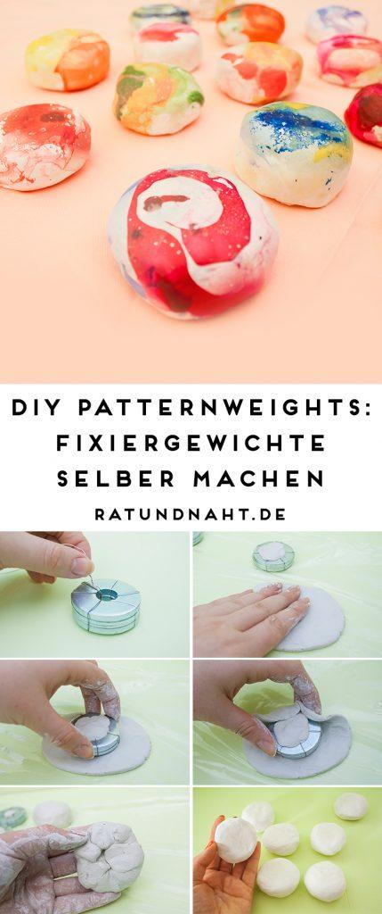 DIY Patternweights: Fixiergewichte selber machen! Diese kleinen Helfer sind nützlich um beim Nähen Schnittmuster zu fixieren und zu beschweren. Lies in meinem Blogpost, wie du sie ganz einfach und günstig selbst herstellen kannst.