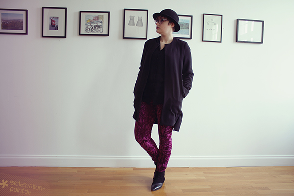 La Maison Victor Roxie Leggings aus Pannesamt // La Maison Victor Roxie leggings made out of crushed velvet