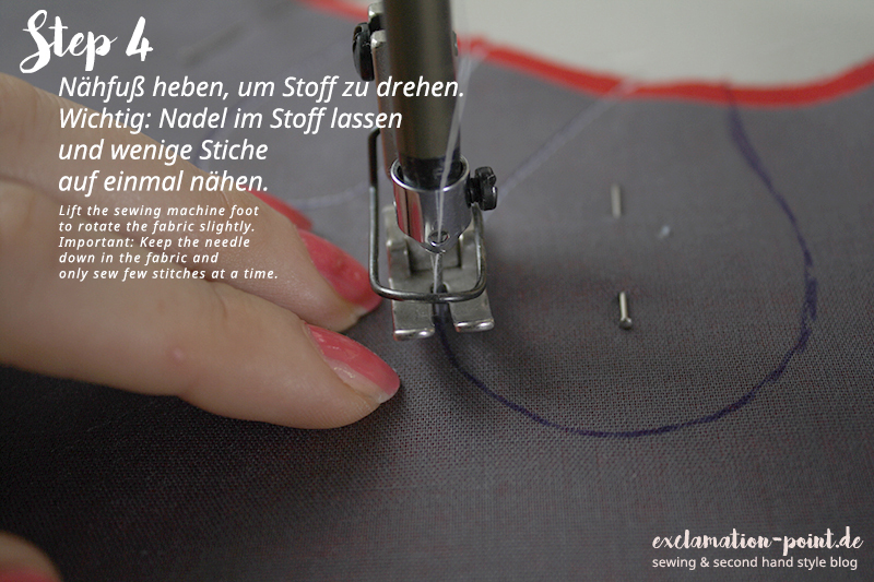 Perfekte Cut Outs nähen - Anleitung mit Bildern | Sew perfect cutouts - tutorial with pictures