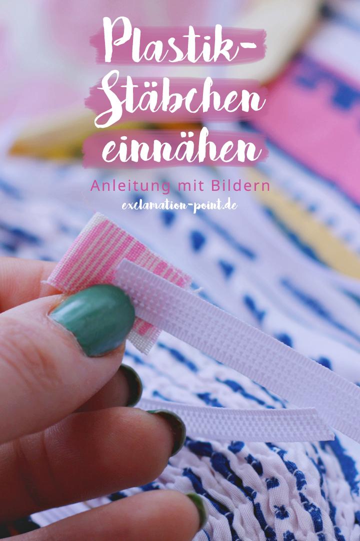 How to use plastic boning - a tutorial by a bespoke tailor | Plastik-Stäbchen einnähen - so geht's ganz einfach! Mit vielen Tipps, welche Stäbchen sich für was eigenen. | exclamation-point.de