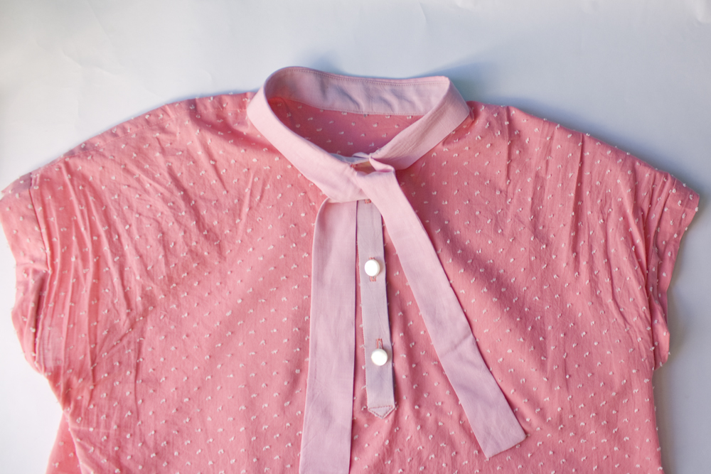 Kalle Shirt pussy bow version by Closet Case Patterns || Rat und Naht